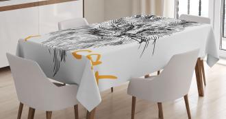 Hand Drawn Cat Tablecloth