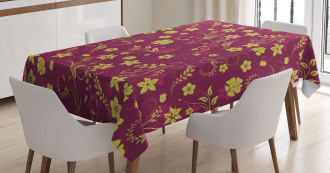Spring Flowers Pattern Tablecloth