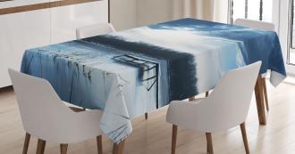 Blue Mountain Lake Scene Tablecloth
