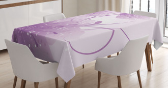 Vector Flowers Butterfly Tablecloth