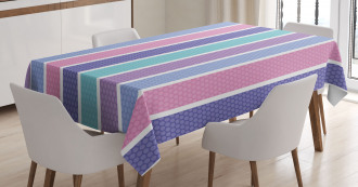 Polka Dot with Stripes Tablecloth