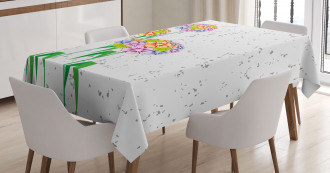 Colorful Daisies Artwork Tablecloth