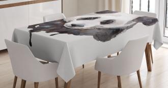 Watercolor Panda Bear Tablecloth