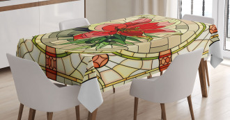 Flower Lily Leaves Tablecloth