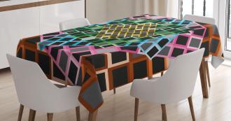 Color Squares Frames Tablecloth