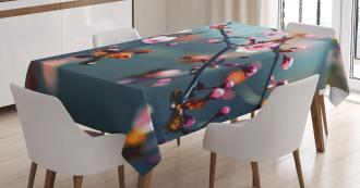 Blooming Sakura Flowers Tablecloth