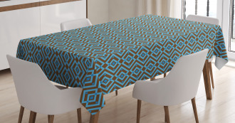 Nested Square Pattern Tablecloth