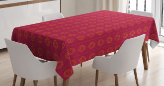 Sun Inspired Ethnic Tablecloth