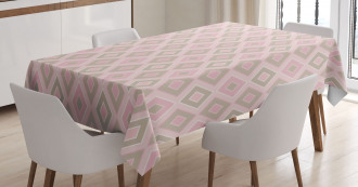 Trippy Shapes Artful Tablecloth