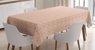 Retro Vintage Lilac Dots Tablecloth