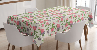 Garden Flowers Roses Tablecloth
