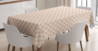 Modern Pink Squares Tablecloth