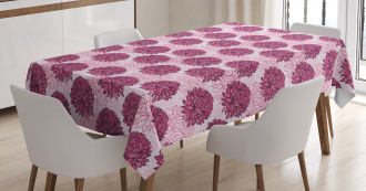 Vintage Graphic Flowers Tablecloth