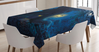 Magical Night Tree Home Tablecloth