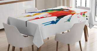 African Wild Elephant Tablecloth