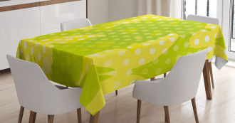 Butterfly Shapes Dots Tablecloth