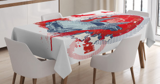 Winged and Crowned Car Tablecloth