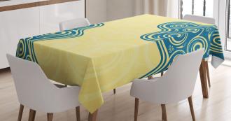 Vintage Floral Spiral Tablecloth