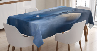 Castle on Clouds Gothic Tablecloth