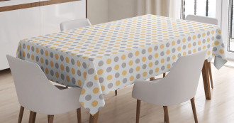 Shabby Colored Dots Tablecloth