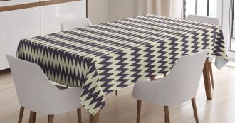 Narrow Sharp Zigzags Tablecloth