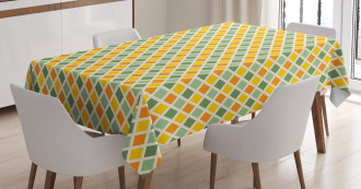 Classic Checkered Striped Tablecloth