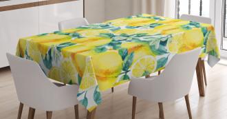 Lemon Citrus Branches Tablecloth