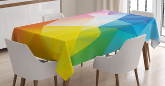 Fractal Colored Lines Tablecloth