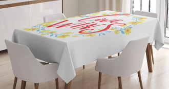 Love Wins Floral Wreath Tablecloth