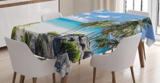 Barbados Beach Ocean Tablecloth