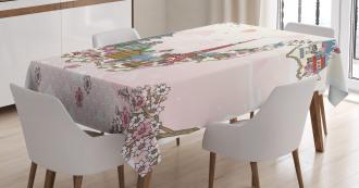 Travel Poster Sakura Tablecloth