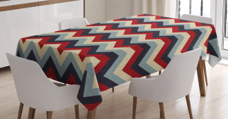 Retro Abstract Stripes Tablecloth