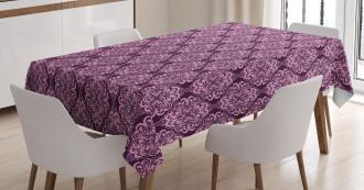 Damask Floral Swirls Tablecloth