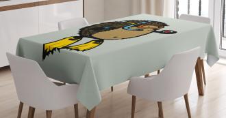 Scuba Diver Hedgehog Tablecloth
