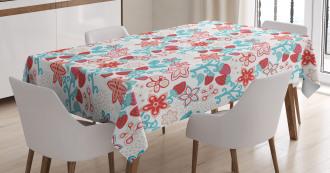 Cute Flowers Berries Tablecloth