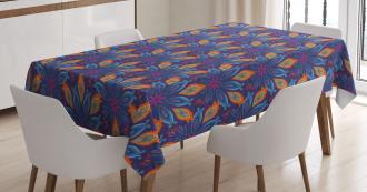 Vibrant Floral Ornate Tablecloth