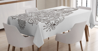 Asian Lotus Sun Henna Tablecloth