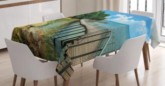Boardwalk Sandy Shore Tablecloth