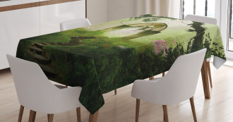 Fantasy Gate in Forest Tablecloth