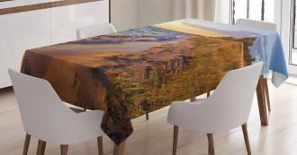 Sandy Calm Beach Sunset Tablecloth