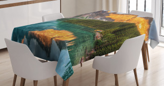 Moraine Lake Canadian Tablecloth