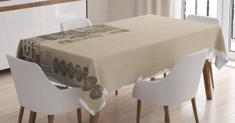 Mayan Relic Tablecloth