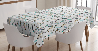 Rain of Socks Laundry Tablecloth