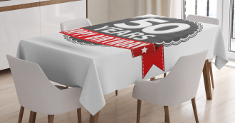50th Birthday Retro Tablecloth