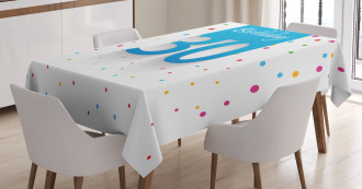 Birthday Confetti Tablecloth