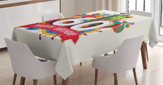 Birthday Castle Boat Tablecloth