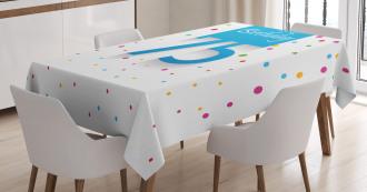 Rain with Polka Dots Tablecloth