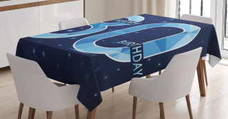 Party Theme and Stars Tablecloth