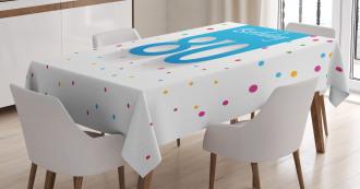 Polka Dots Birthday Tablecloth