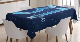 Modern Birthday Tablecloth